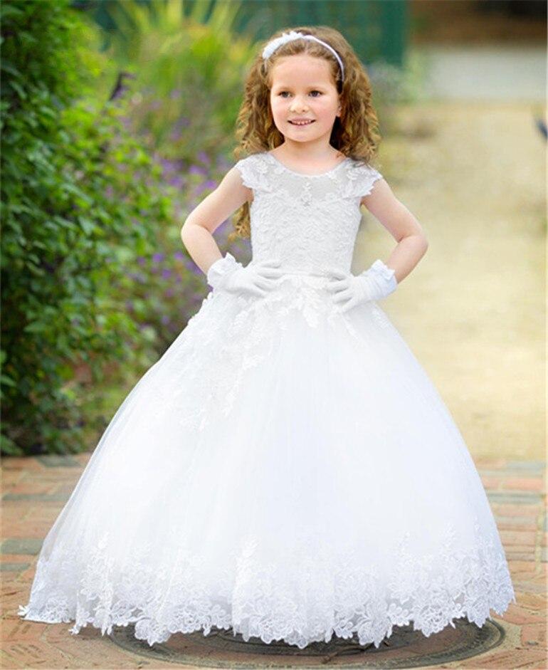 73eac61325f06 Fleur Mariage D enfants Sainte Concours Same De Robes Communion Princesse  As Soirée Robe Pour Filles Peu Le Première ...