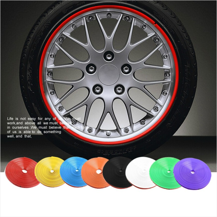buy 8 m car motorcycle wheel hub tire sticker car decorative strip wheel rim. Black Bedroom Furniture Sets. Home Design Ideas