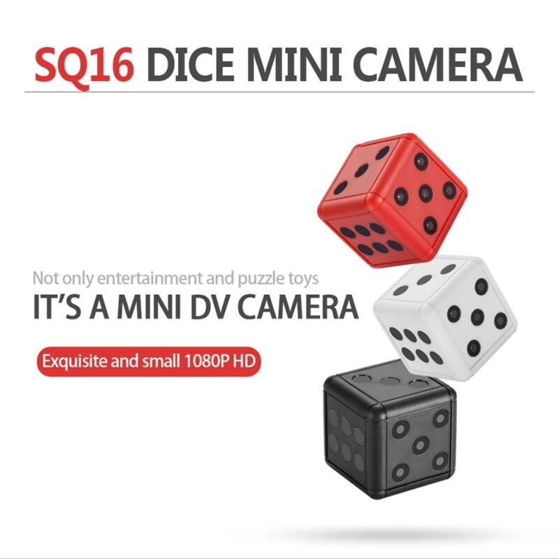 Mini cámara SQ16 Seguridad dados Cámara 1080 p HD de vídeo de vigilancia Cámara de Acción Grabación de visión de noche de apoyo TF tarjeta