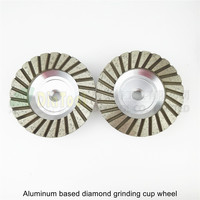 2PK 4inch 120 Aluminum Based Diamond Grinding Cup Wheel Diameter 100mm Grinding Wheel For Granite Concrete