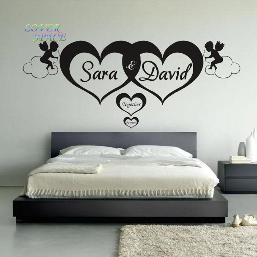 Wall Art Stickers Dunelm : Aliexpress buy custom made love personalised name