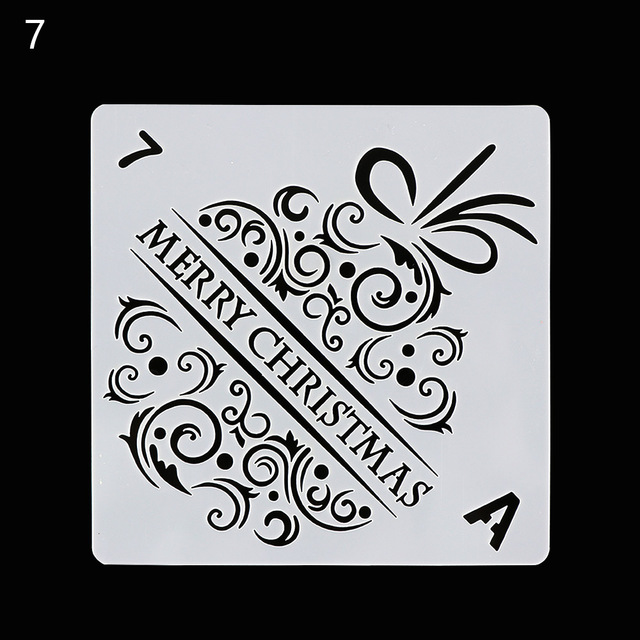 merry christmas words letter layering stencils for walls painting scrapbooking stamp album decor embossing paper card