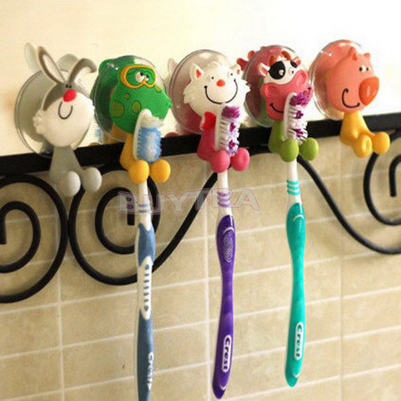 Mini Toothbrush Holder Lovely Animal Type Toothbrush Holder Household Bathroom Product Sanitary Ware Acc 6 Styles