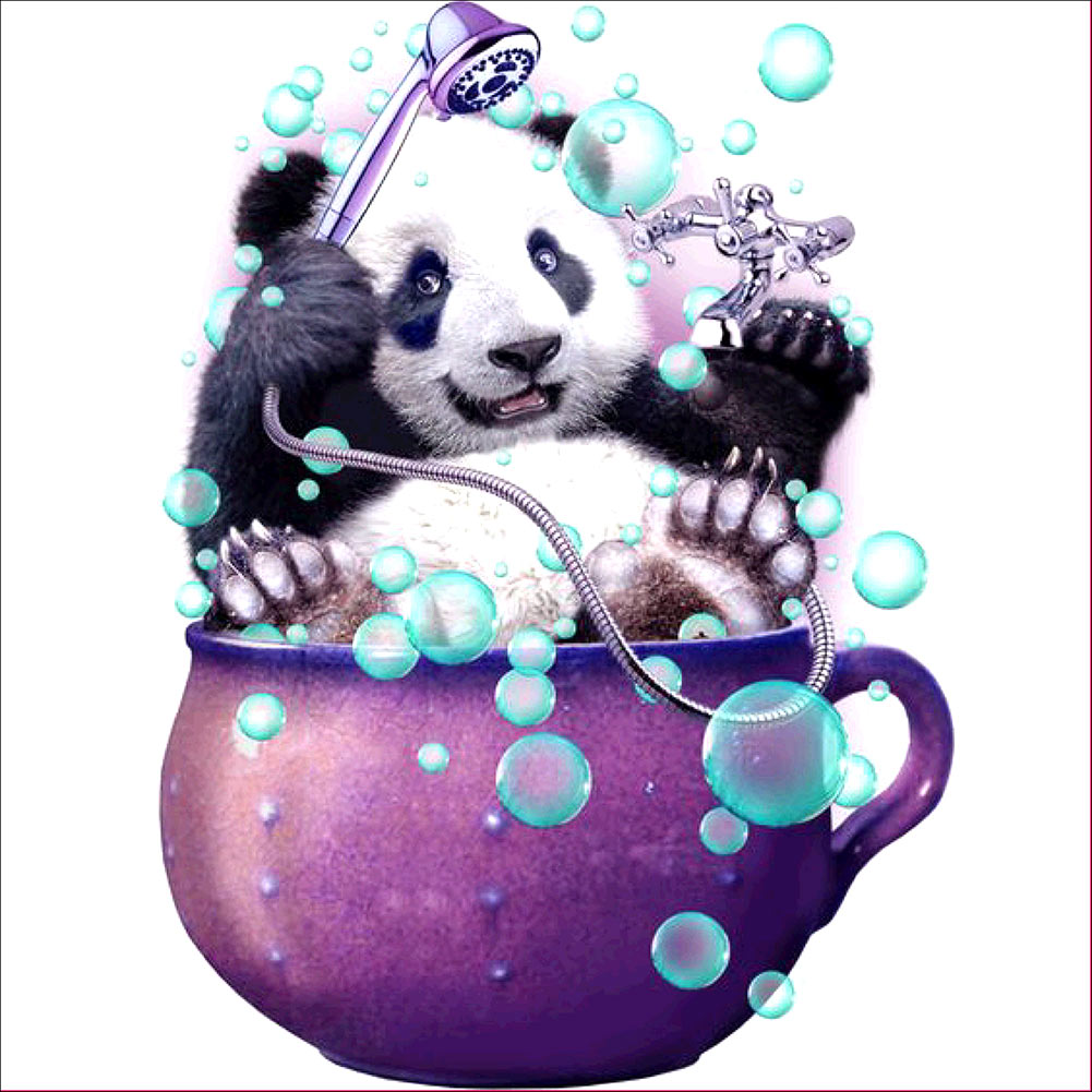 30x30cm DIY Home Decor Diamond Painting Cross Stitch Cup Panda Mosaic Pasted Crystal Embroidery Hot Sale