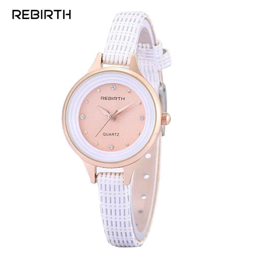 df9e03b6c08 Novo RENASCIMENTO Mulheres Marca de Luxo Pulseira Vestido Relógios Moda  Senhoras Pulseira de Couro Relógio de Quartzo Meninas relógios de Pulso À  Prova D  ...