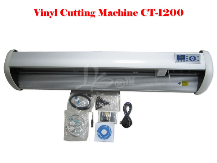 High accuracy cutting plotter vinyl cutter with infrared optical sensor/Plotter Cutter CT-1200 Plotter Cutting Machine contour 1 roll white cutting plotter blade strips protection guard vinyl cutter tape 100cmx8mm