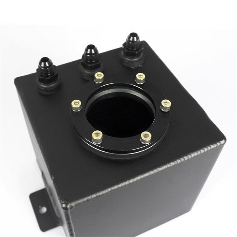 Réservoir de montée subite de carburant en aluminium de billette d'an6 2L/réservoir de montée subite d'an6 avec le noir de garnitures - 6