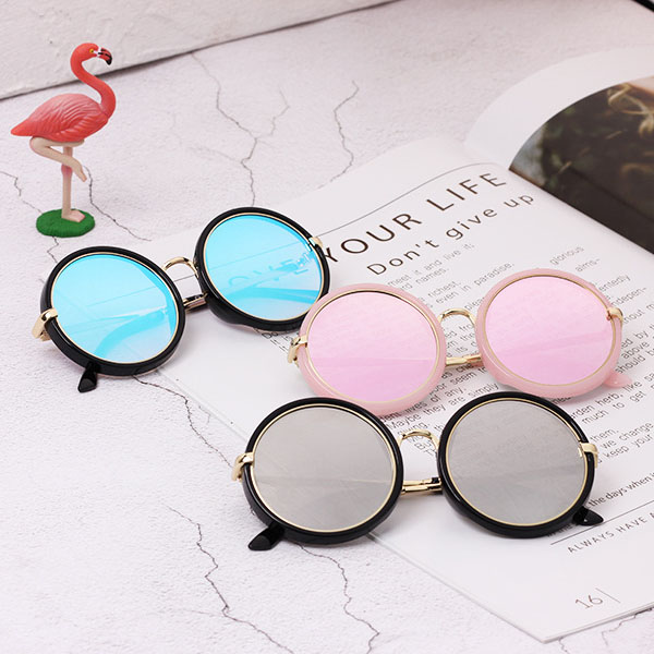 Accessories Just Hot Selling 2018 New Style Kids Round Sunglasses Cute Boys&girls Uv400 Summer Cool Glasses Anti-reflective Lens Gold Leg N83 Matching In Colour