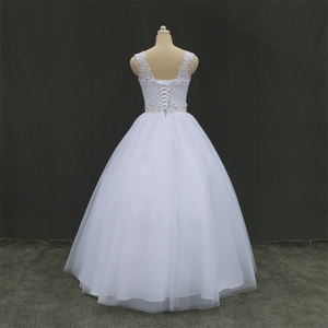 Image 3 - Fansmile Real Photo ราคาถูกไหล่คู่ Lace Up งานแต่งงานชุด 2020 VINTAGE PLUS ขนาดชุดเจ้าสาวงานแต่งงานชุด FSM 027F