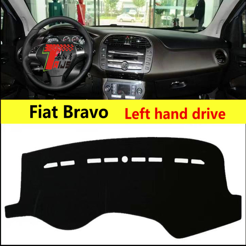 TAIJS left hand drive Sun Shade Pad for Fiat Bravo Dustproof car dashboard cover Polyester Fiber mat for Fiat Bravo|Anti-Slip Mat| |  - title=