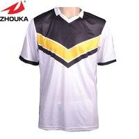 Sublimationsdruck fußball jersey, name, nummer, logo freies drucken auf, machen ihre team fußball jersey