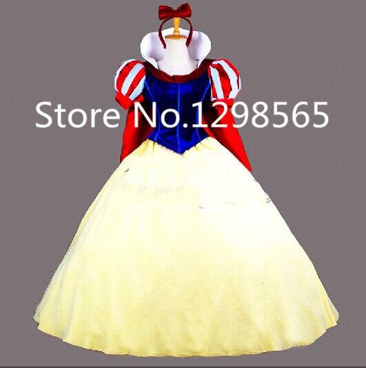 Livraison gratuite sur mesure robe de princesse blanche neige avec Costume de noël Cape Cosplay
