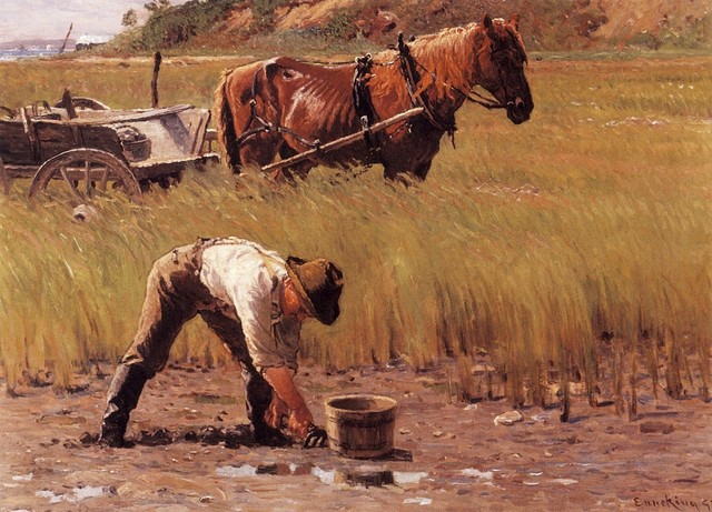 US $9 1 |Unframed Canvas Prints Duxbury Clam Digger (also known as A South  Duxbury Clam Digger) By John Joseph Enneking-in Painting & Calligraphy from