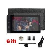Gaomon pd1560 15.6 인치 10 키 아트 전문 그래픽 태블릿 화면 펜 그리기 태블릿 모니터 승리 및 mac 선물
