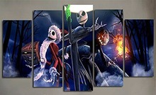 Hot Sales Framed 5 Panels Picture Halloween series HD Canvas Print Painting Artwork Wall Art painting WholesaleHX-050