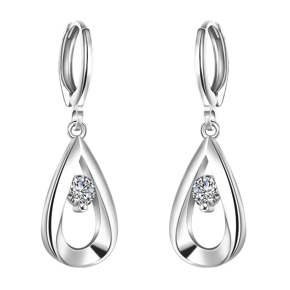 New Fashion Zircon Water Drop Earrings For Women Bohemian Brincos Earing Female Fine Jewelry Geometric Club Factory Flash Deals In From