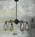 Vintage 6-arm iron cage chandelier Loft Creative Personality Industrial Edison Bulb American Style For Living Room