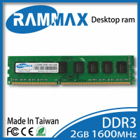 Desktop Ram Memory DDR3 2GB LO DIMM 1600Mhz PC3 12800 240pin CL11 Non ECC 1 5V
