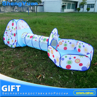 3pcs/set Foldable Baby Pool Tube Teepee Toy Tents 3 colors Pop up Play Tent Toy Children Tunnel Play House Balls Pools