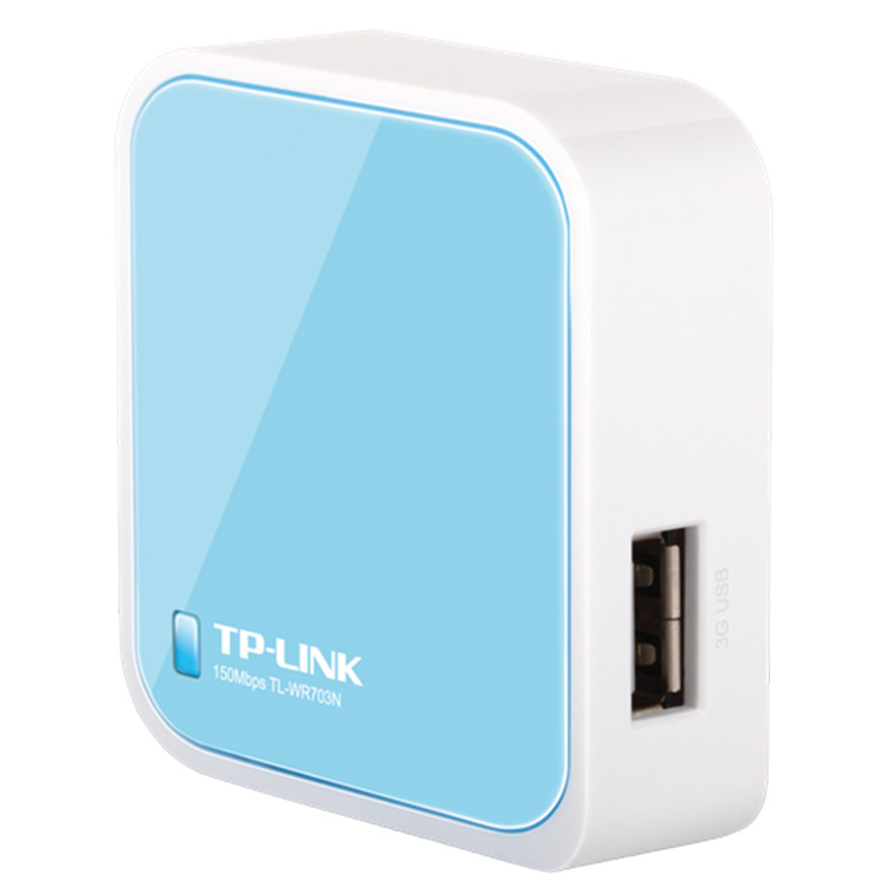 Tp-link WR703N Mini routeur sans fil Wifi 3G Portable 150 Mbps débit de Transmission sans fil usb deux interfaces