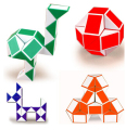Fashion New Mini Magic Snake Pony Ball Shape Toy Game 3D Novelty Cube Puzzle Twist Puzzle Toy H-024