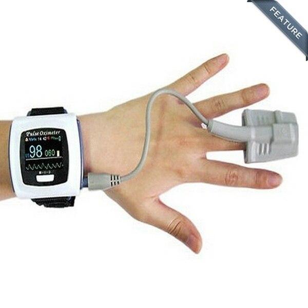 Montre-bracelet mesurant le pouls - Oxymetre controle taux doxygene sanguinMontre-bracelet mesurant le pouls - Oxymetre controle taux doxygene sanguin