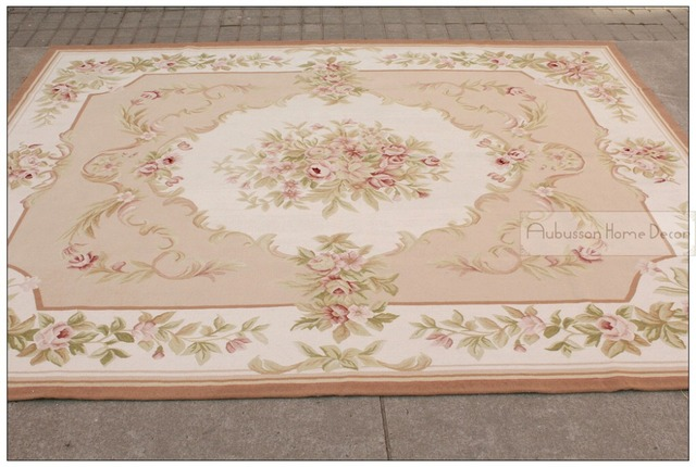 8 x10 wool hand woven shabby chic french style aubusson area rug rh aliexpress com shabby chic carpet for sale shabby chic wall to wall carpet