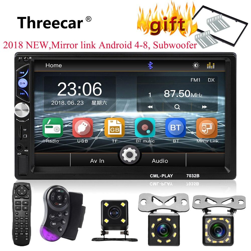 2din автомобильный Радио 7 сенсорный mirrorlink Авто Аудио плеер для сабвуфера MP5 плеер Авторадио Bluetooth Камера заднего вида магнитофон