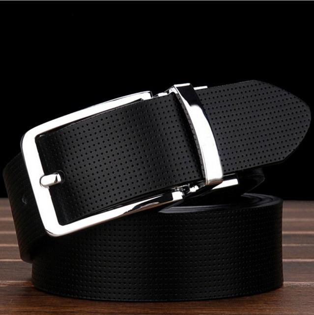 [TG] nuevo Diseñador genuino Cuero de Buena Calidad para hombre de negocios de lujo de la correa Pin Hebilla Cinturones Masculinos Para Hombres pantalones vaqueros cinturones