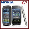 C7 Оригинальный Телефон Nokia C7 GSM 3 Г WI-FI Bluetooth GPS-8MP Камера Разблокирована Сотовые телефоны 3.5 ''Бесплатная доставка на один год гарантия