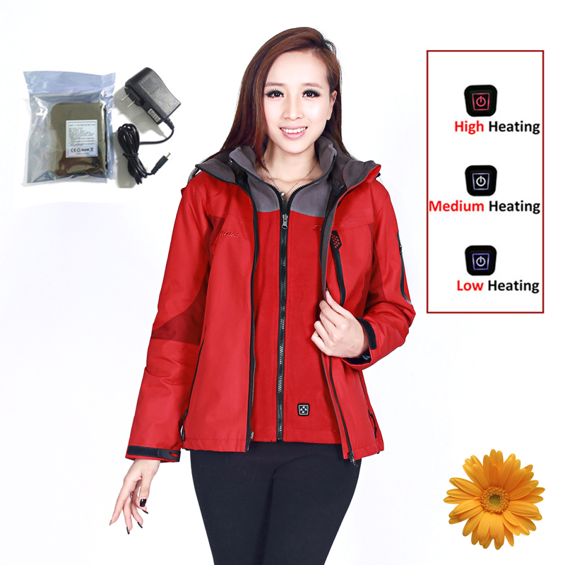 где купить Outdoor Jacket Women 2-Layer Winter Sport Outdoor Waterproof Shell Skiing Climbing Camping Hiking Jacket Windbreaker Warm Coat по лучшей цене