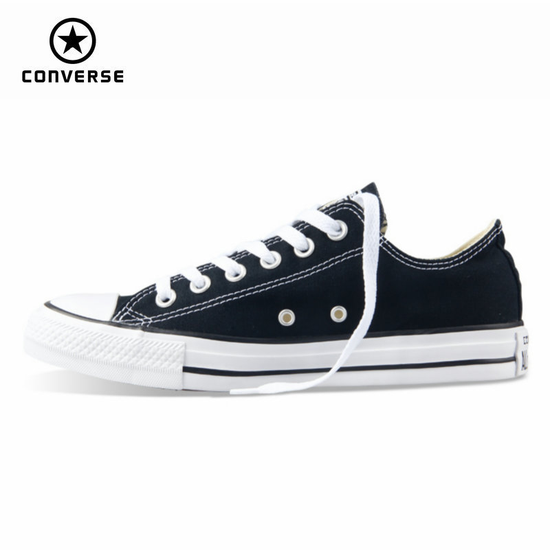 Original new Converse all star canvas shoes men's sneakers for men low classic Skateboarding Shoes black color free shipping(China)
