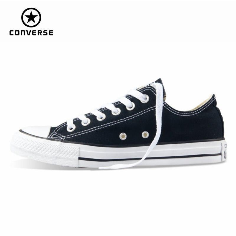 beste schoenen klassieke schoenen nieuwe specials US $49.87 50% OFF|Originele nieuwe Converse all star canvas schoenen mannen  sneakers voor mannen lage klassieke Skateboard Schoenen zwarte kleur ...