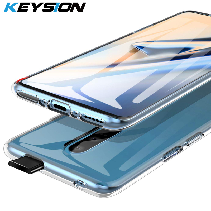 KEYSION Ultra Thin Silicone Slim Clear Transparent Soft TPU Protector Case for font b OnePlus b