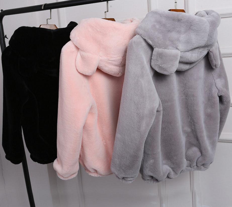 Beige Wj1402 La pink Gratuite Renard black Fourrure Luxe Manteau Était Plus Chaud grey Mince Livraison Capuchon À 4xl D'hiver Femmes De S Taille Veste Faux 1ExSRUSq