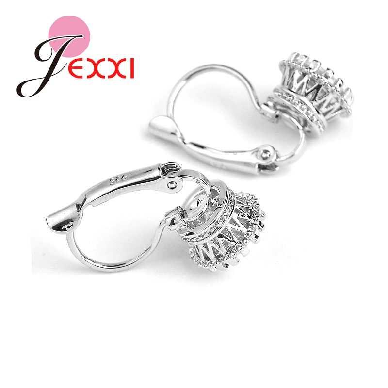 Top Selling Factory Price 925 Sterling Sliver Fashion Earring Jewelry Shiny CZ Cubic Zirconia Woman Daily Earrings