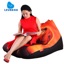LEVMOON Beanbag Sofa Chair The Lion King Seat Zac Comfort Bean Bag Bed Cover Without Filler Cotton Indoor Beanbag Lounge Chair