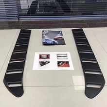 QHCP 1Pair ABS Car Rear Window Decorative Vents Shutter Louver Decoration Accessories For Ford Mustang 2015 2016 2017 2018 2019 qhcp car styling abs letter sticker rear trunk decklid badge emblem stickers decoration fit for ford mustang 2015 2016 2017 2018