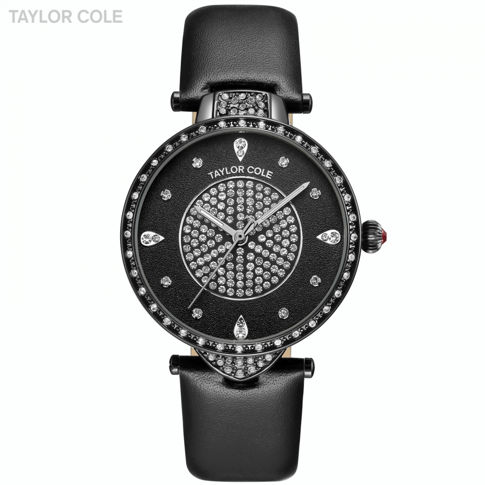 Echo New Brand Taylor Ladies Watch Cole Black Genuine Leather Band Hour Zegarki Damskie Japan Quartz Crystal Black Watches/TC113 taylor cole relogio tc013