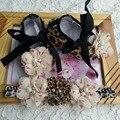 Девушки Леопарда пинетки Детская обувь установить заставку, потертый цветы обувь для детей, детские девушка обувь бренда, bebe теннис sapatos menina