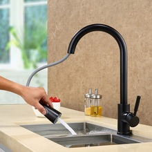 304 Stainless Steel Single Handle Pull Down Kitchen Faucet Sprayer Kitchen Sink Faucet  Deck Mounted Hot and Cold water pipe Tap цены онлайн