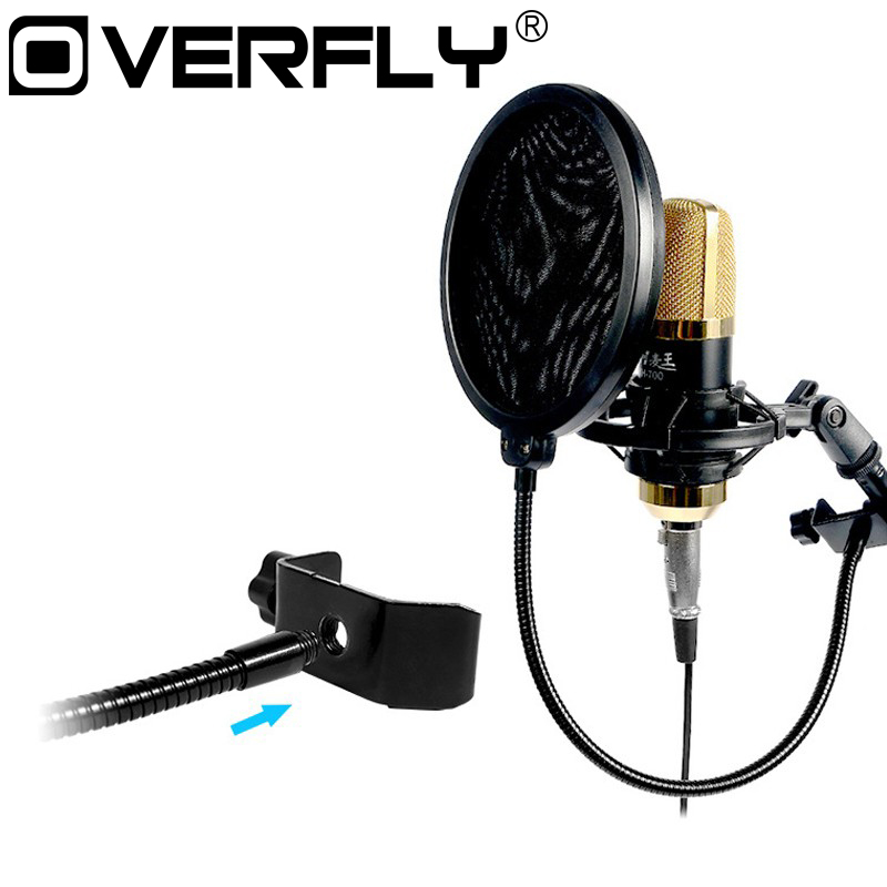 Microphone Wind Screen Pop Filter Double Layer Mask Shied Mic Swivel Mount for Koraoke Singing Recording Gooseneck Holder studio mini microfone professional microphone mic wind screen pop filter for koraoke video singing recording cover mask shield