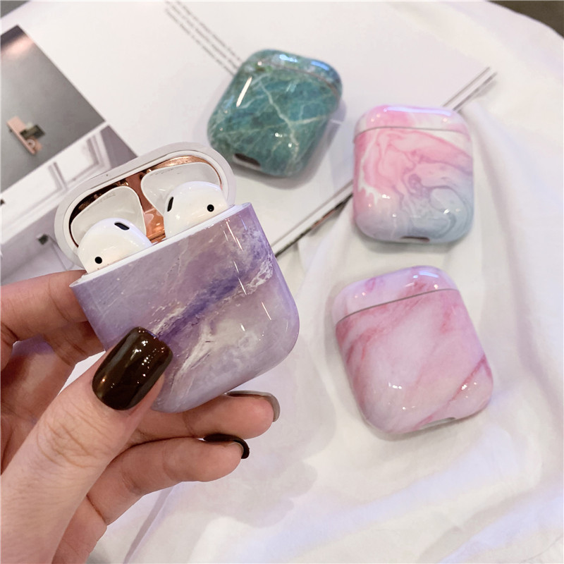 Marble Case For Apple Airpods Case Cute Cover For Airpods 2 1 Hard Case Accessories Headphone Case Box Bluetooth Earphone Coque