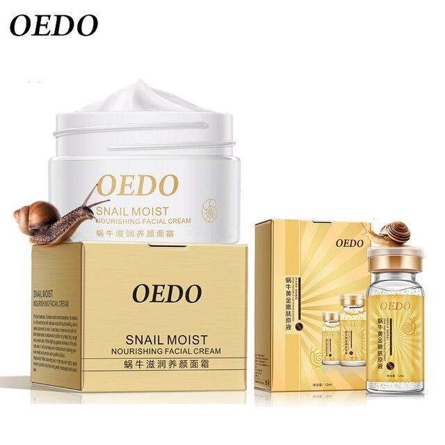 Crema Facial de Caracol + Esencia de caracol y oro hidratante ácido hialurónico antiarrugas cuidado de la piel húmedo nutritivo reafirmante reparación
