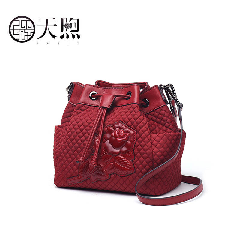 PMSIX 2019 New women bag fashion Chinese vintage style embossed canvas handbags women famous brand crossbody bags for womenPMSIX 2019 New women bag fashion Chinese vintage style embossed canvas handbags women famous brand crossbody bags for women