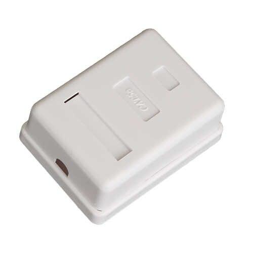 1 adet 1 Port UTP Cat 5e/ UTP kedi 6 ağ için yüzey kutusu kabloları, fiş, keystone Jack,Patch Panel