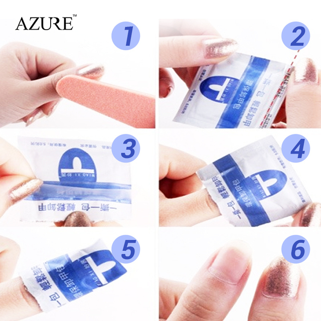 2017 nail remover 100Pcs/lot  Nail Art gel polish   Lacquer Easy cleaner gel nail Wraps  UV Gel Remover Nails Care tools