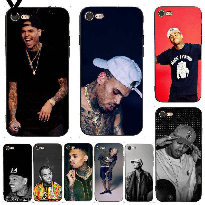 Yinuoda For iphone 7 6 X Case Chris Brown Breezy Coque Shell Print Phone