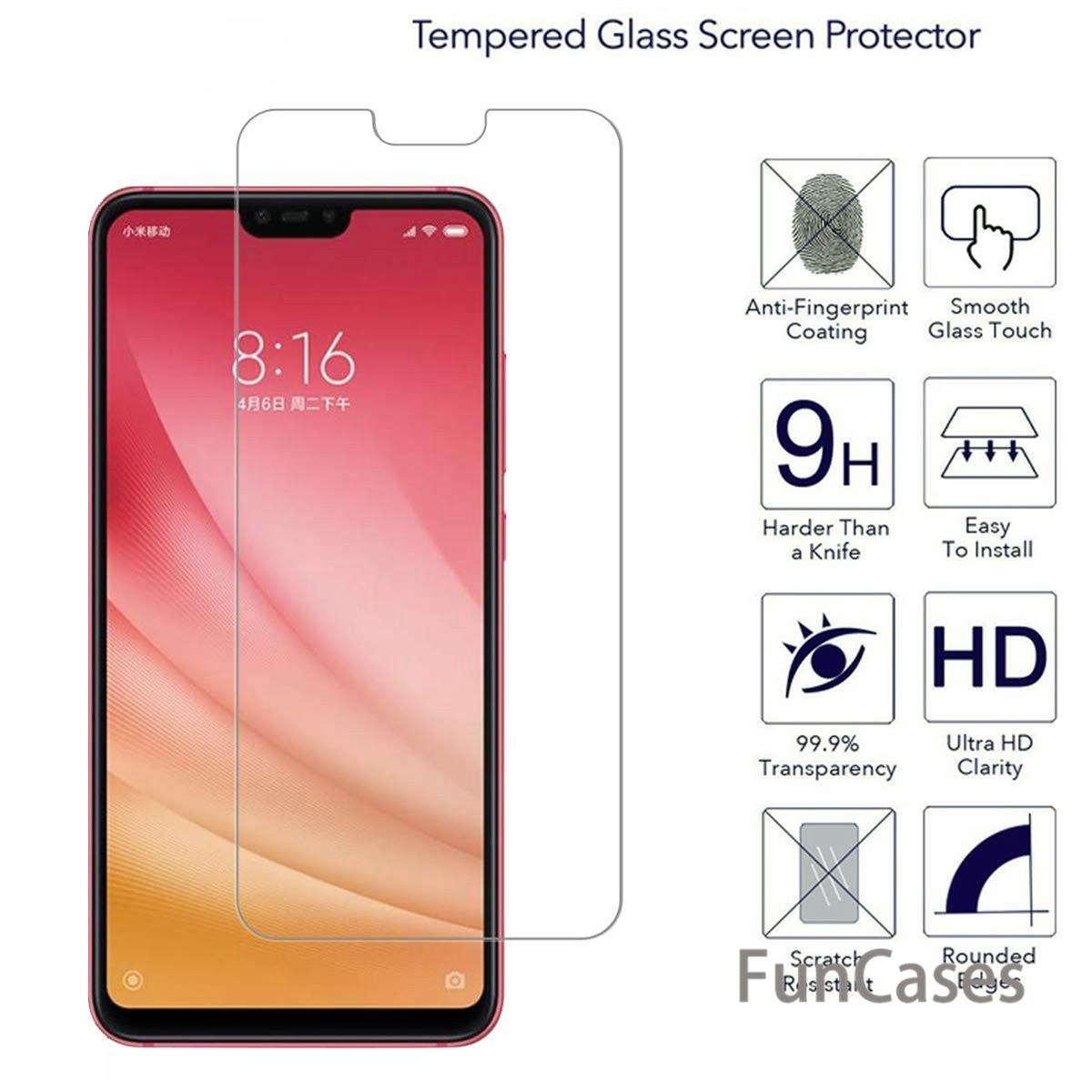 Tempered Glass For Xiaomi Mi8 SE Mi A1 8 Lite 8 Pro Mi5X Mi6X Pocophone F1  Redmi 6 Pro Screen Protector Toughened Film 9H 2 5D Glass Phone Screen