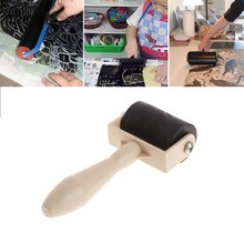 3.5cm Heavy Duty Hard Rubber Roller Printing Screen Plastic Frame Craft Tool(China)